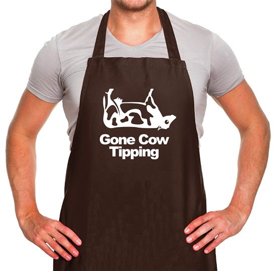 Gone Cow Tipping Apron