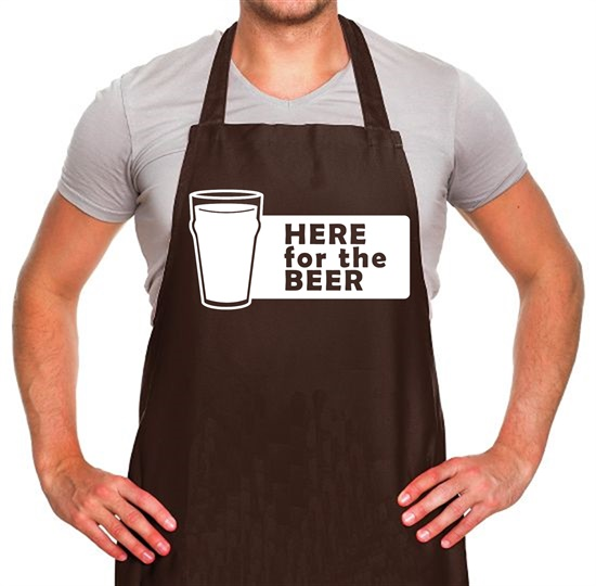 Here For The Beer Apron