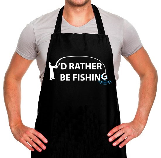 I'd Rather Be Fishing Apron
