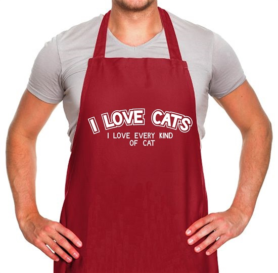 I Love Cats I Love Every Kind Of Cat Apron