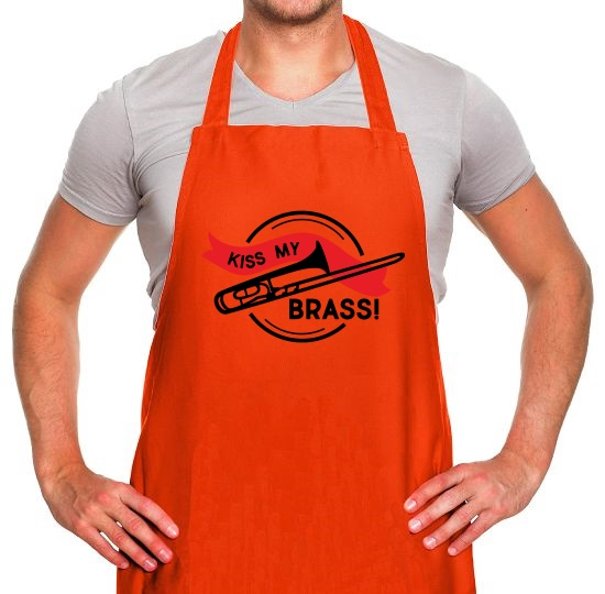 Kiss My Brass Apron