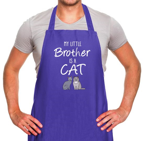 My Little Brother Is A Cat Apron