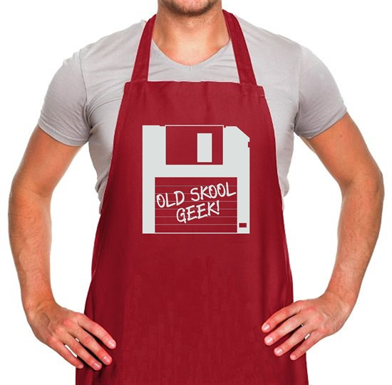 Old School Geek Apron