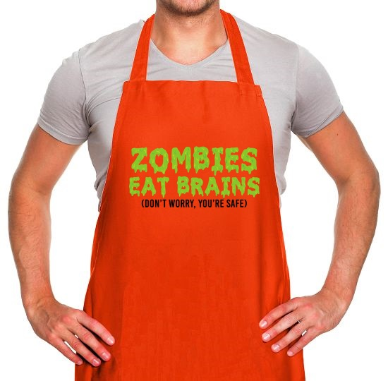 Zombies Eat Brains Apron