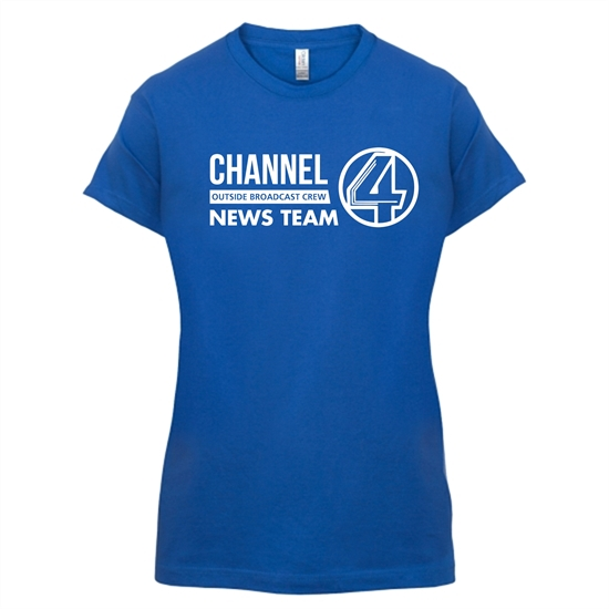 Anchorman - channel 4 outside broadcast t-shirts for ladies