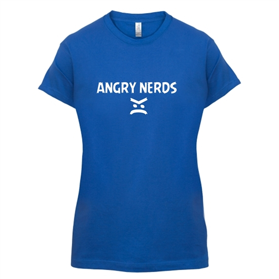 Angry Nerds t-shirts for ladies