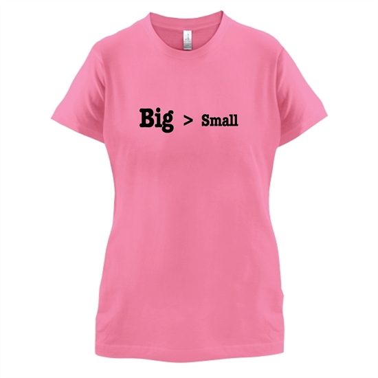 Big Small t-shirts for ladies