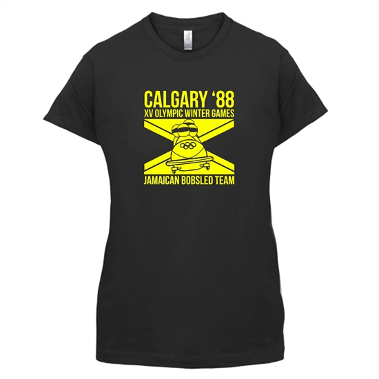 Calgary 88 Jamaican Bobsleigh Team t-shirts for ladies