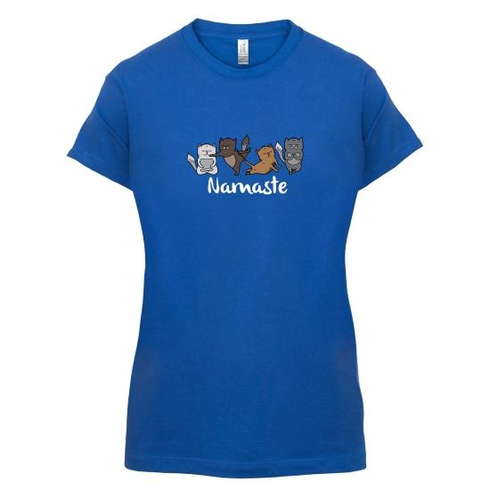 Cat Yoga t-shirts for ladies