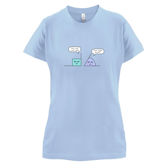 Complementary Angle t-shirts for ladies