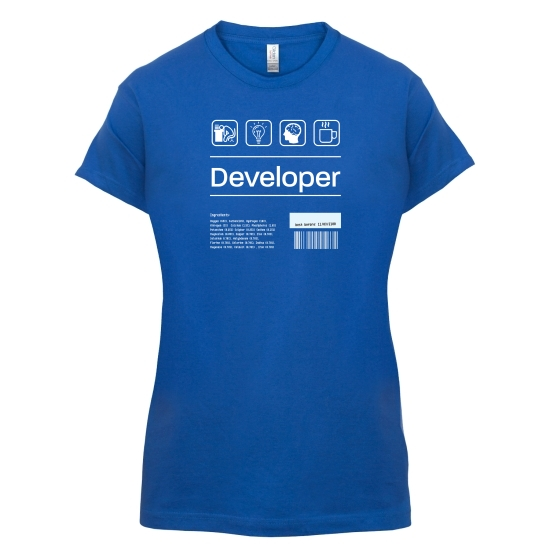 Developer Ingredients t-shirts for ladies