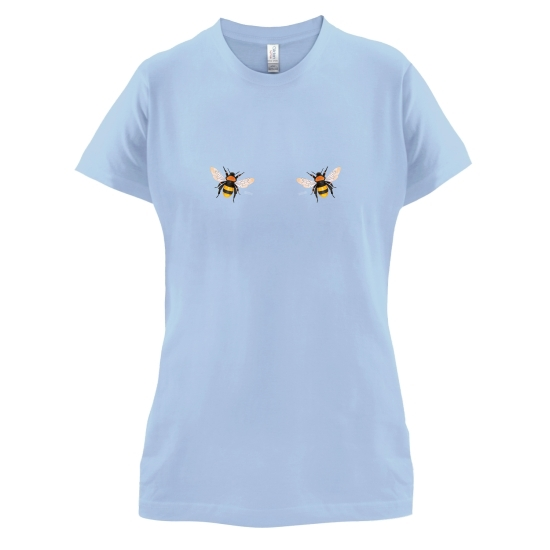 Double Bees Chest t-shirts for ladies