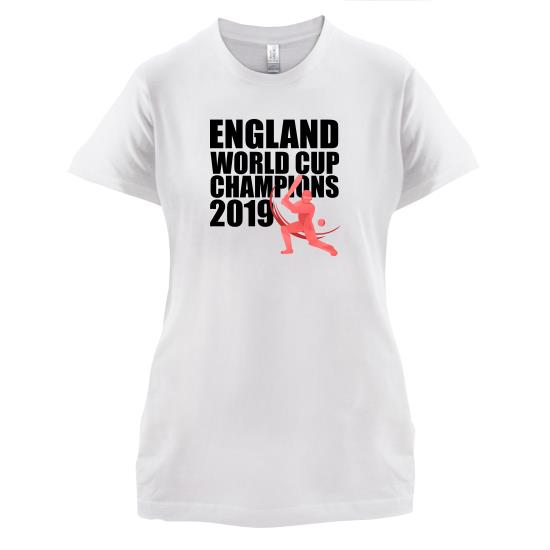 England World Cup Champions t-shirts for ladies