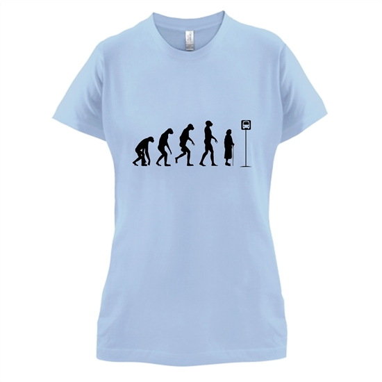 Evolution - Bus Stop t-shirts for ladies