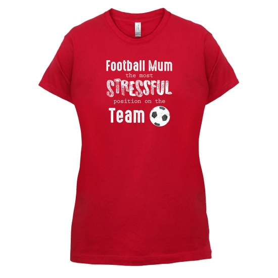 Football Mum t-shirts for ladies