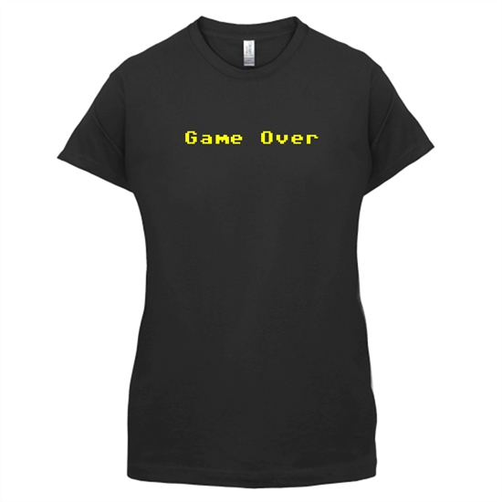 Game Over Player t-shirts for ladies
