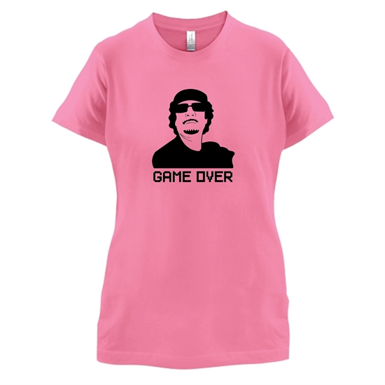 Game Over Gaddafi t-shirts for ladies