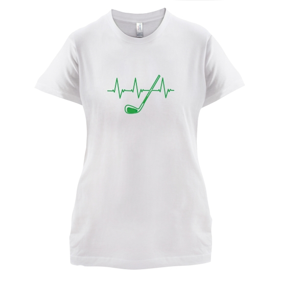 Golf Heartbeat t-shirts for ladies