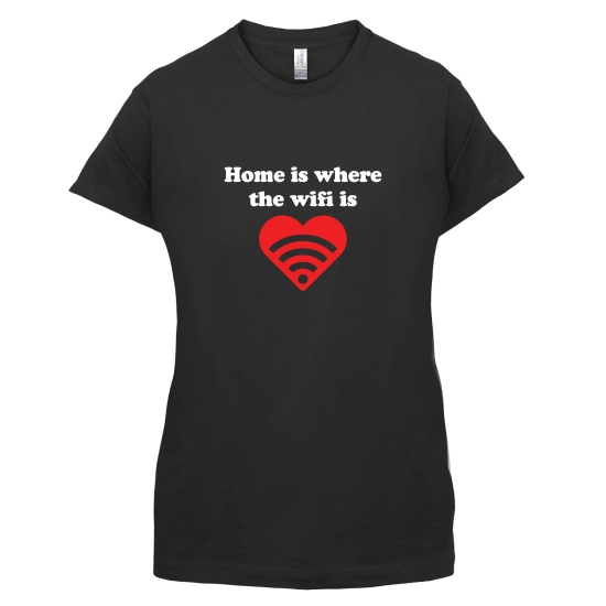 Home Is Where The Wifi Is t-shirts for ladies