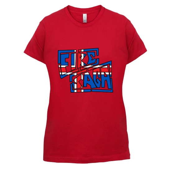 Iceland Fire Saga t-shirts for ladies