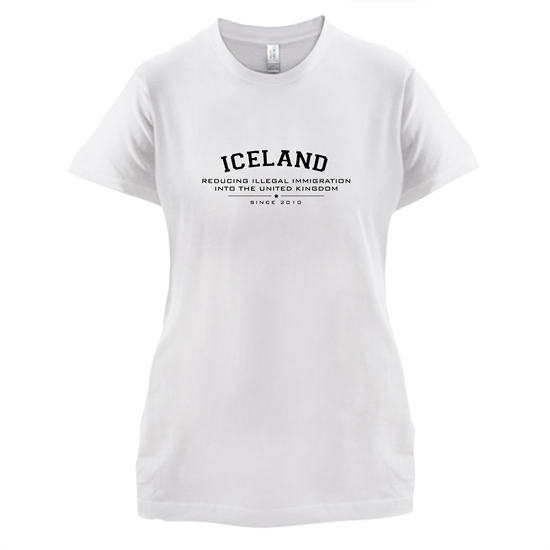 Iceland Reducing Illegal Immigration Since 2010 t-shirts for ladies