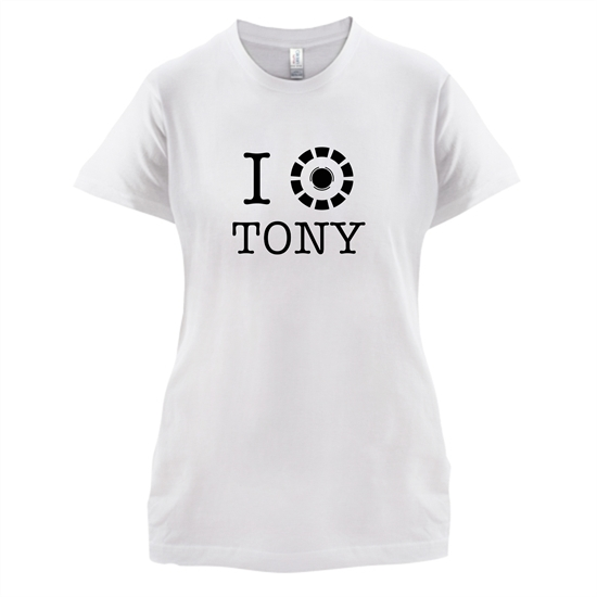 I Heart Tony Stark t-shirts for ladies