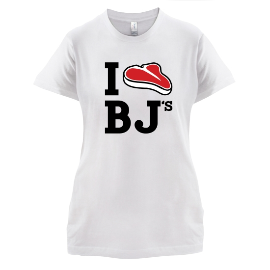 I Steak BJ's t-shirts for ladies