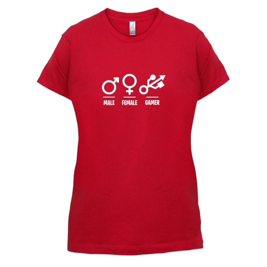 Male/Female/Gamer t-shirts for ladies
