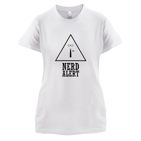 Nerd Alert t-shirts for ladies