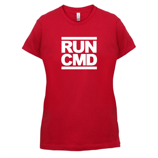 RUN CMD t-shirts for ladies