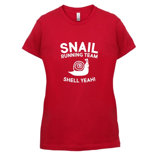 Snail Running Team t-shirts for ladies