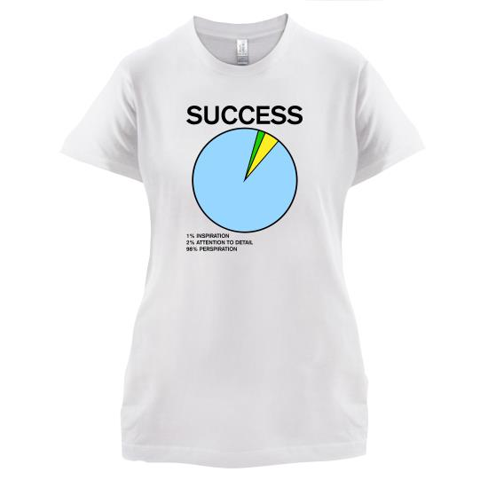Success Pie Chart t-shirts for ladies