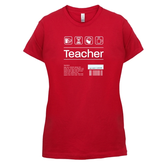 Teacher Ingredients t-shirts for ladies