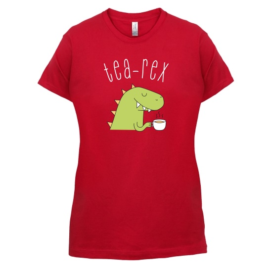 Tea-Rex t-shirts for ladies
