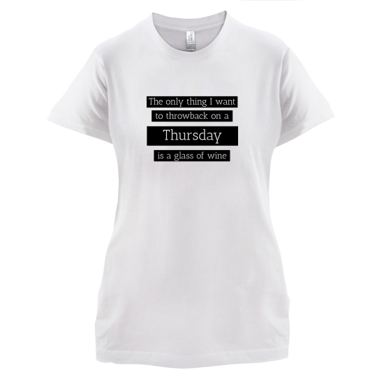 Throwback Thursday t-shirts for ladies
