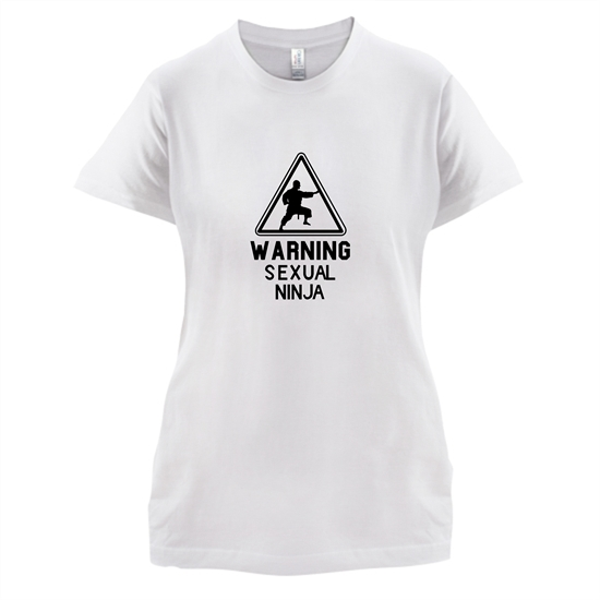Warning Sexual Ninja t-shirts for ladies
