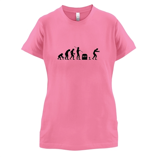 Zombie Evolution t-shirts for ladies