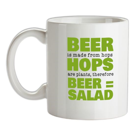 Beer Equals Salad t-shirts