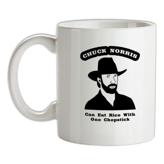 Chuck Norris Can Eat Rice With One Chopstick t-shirts