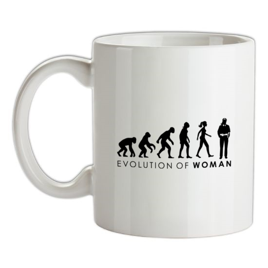 Evolution Of Police Woman t-shirts