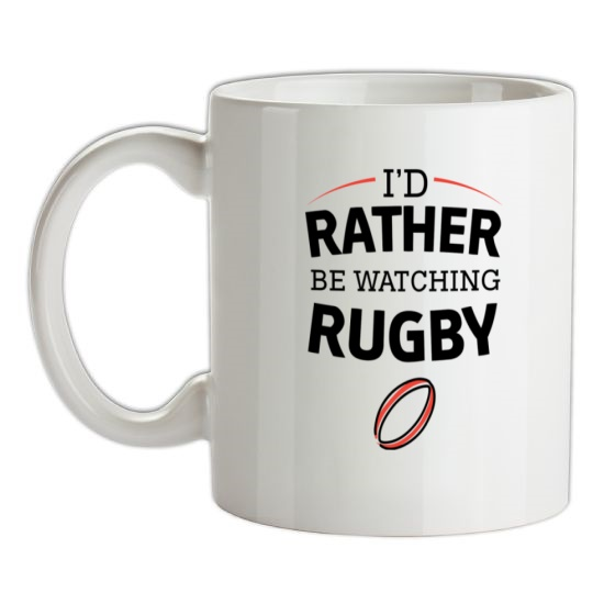 I'd Rather Be Watching Rugby t-shirts