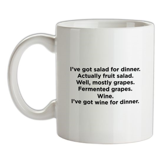 I'm Having Wine/Fruit For Dinner t-shirts