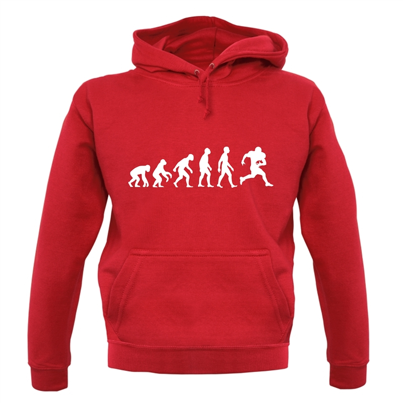 Evolution Of Man American Football Hoodies