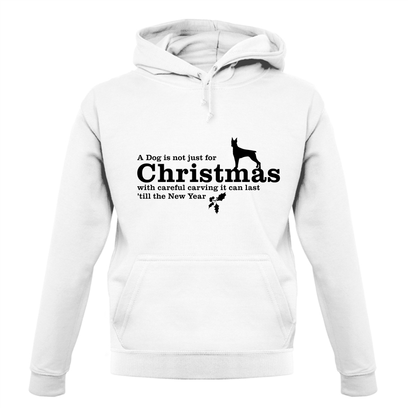 A dog is not just for christmas, with careful carving it can last 'till the new year Hoodies