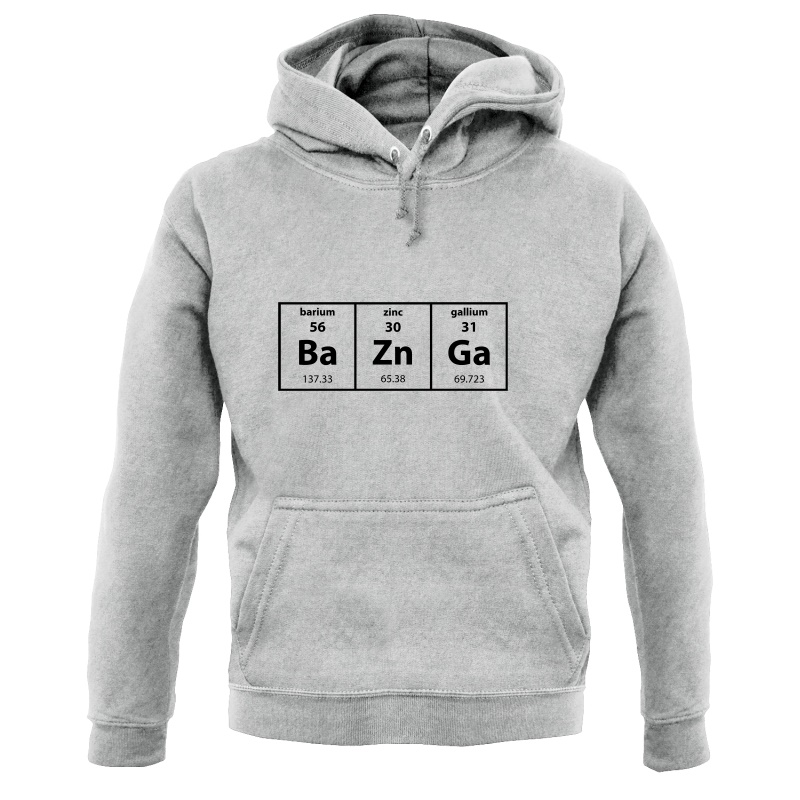Baznga Periodic Table Hoodies