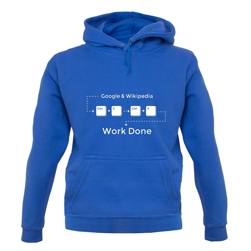 Ctrl C And Ctrl V Equals Work Done Hoodies