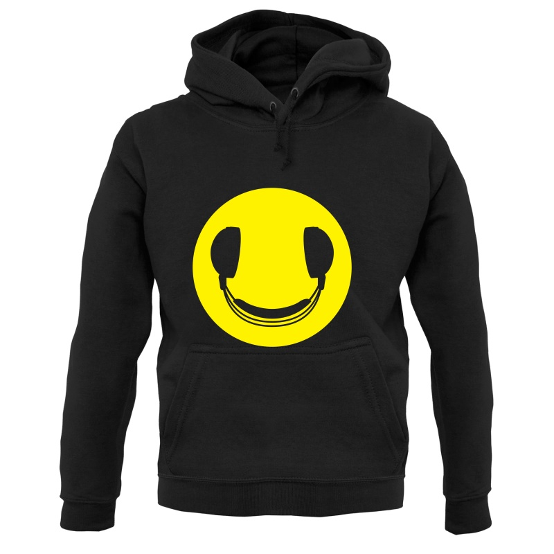DJ Headphones Smiley Face Hoodies