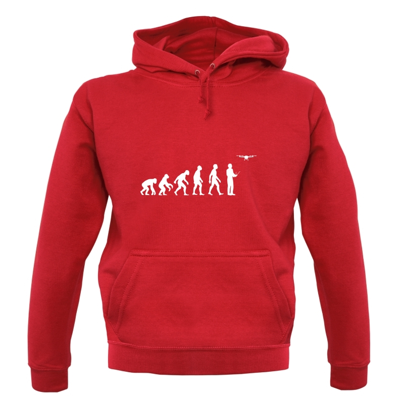 Evolution Of Man Droning Hoodies