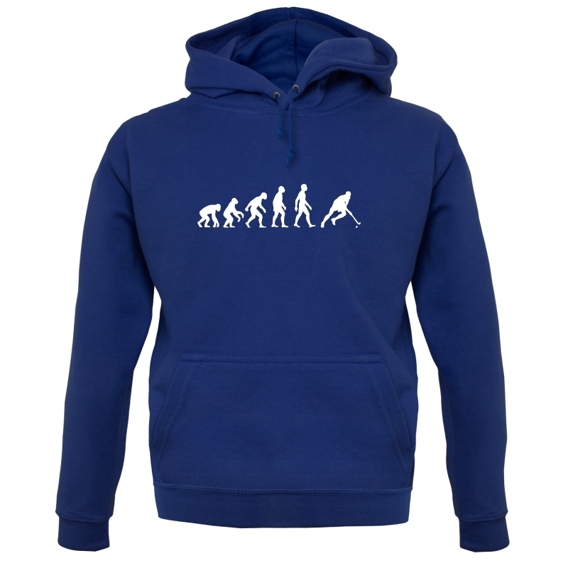 Evolution Of Man Field Hockey Hoodies