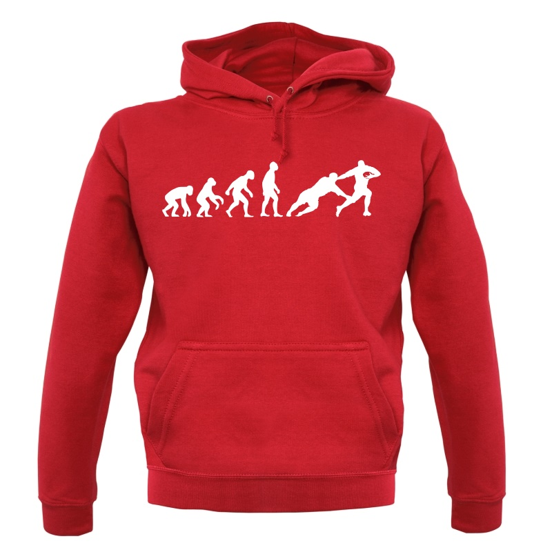 Evolution of Man Rugby Hoodies